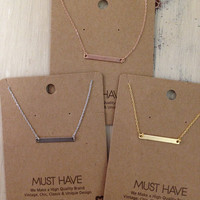 Bar layering dainty necklace-more colors