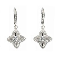 Labe Pave Fashion Drop Earrings