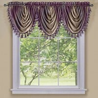 Ben&Jonah Collection Ombre Waterfall Valance - Aubergine