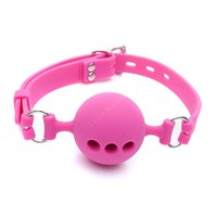 Small Size 38mm Full Silicone Open Mouth Ball Gag in Adult Game Bondage Restraints Sex Products BDSM Erotic Toy Couple Sex Toys