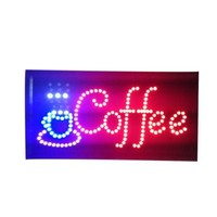 Neon Lights LED Animated Coffee Customers Attractive Sign Store Shop Sign 220V
