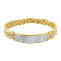 Men Gold Finish Bracelet Presidential Style