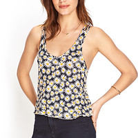 FOREVER 21 Daisy Print Crop Top
