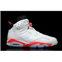 Air Jordan 6 white/orange Basketball Shoes 36-40