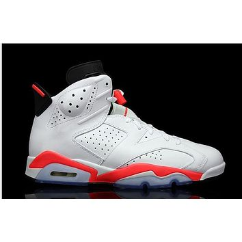 Air Jordan 6 white/orange Basketball Shoes 41-47