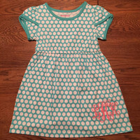 Personalized Monogrammed Polka Dot Dress in Little Girls 12 mos-5t