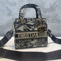 DIOR Hot Sale Embroidered Letters Men's and Women's Messenger Bags, Handbags, Shoulder Bags