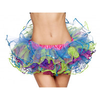 Roma Costume 4556 - Rainbow with Sequin Trimmed Petticoat