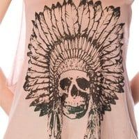 Indian Skull Tank Top - Pink at Lucky 21 Lucky 21