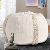 Ivory Moroccan Beanbag