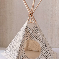 Little Korboose Chevron Printed Pet Teepee   Urban Outfitters