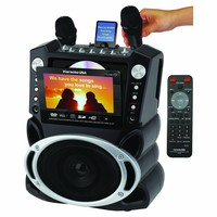 Karaoke USA Karaoke System with 7-Inch TFT Color Screen and Record Function
