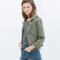 MILITARY JACKET WITH FRILL
