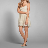 Lace Embroidered Babydoll Dress