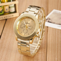 Womens Hight Quality Rose Gold Steel Strap Watch Girl Casual Sports Watches + Christmas Gift Box 357