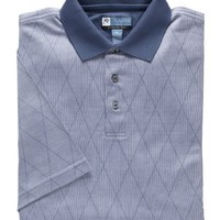 David Leadbetter Stays Cool Polo with Fast-Dry Fabric (BLUE DIAMOND, LARGE)