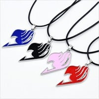 Hot Slae Women Men Cosplay Anime FAIRY TAIL Natsu Dragneel Guild Pendant Necklace Gift Free shipping