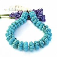 Southwest Turquoise Magnesite Chunky Necklace, Thai Silver Handmade Statement Jewelry for Women