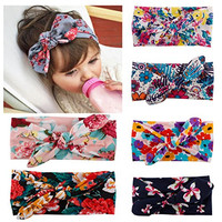 ZHW Baby Girl Newest Turban Headband Head Wrap Knotted Hair Band 6 pack