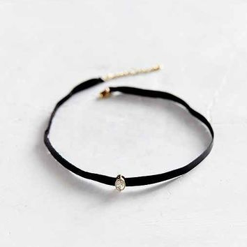 Only Love Leather + Stone Choker Necklace