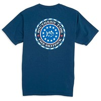 Capital Tee Shirt in Yacht Blue by Southern Tide