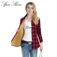 Women's Flannel Shirt with Warm Liner (20 Color Options)