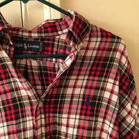 Polo Ralph Lauren Red and White Plaid Blaire Hunter Button Up