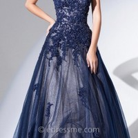 Sweetheart Beaded Lace Ball Gowns by Tony Bowls Evenings