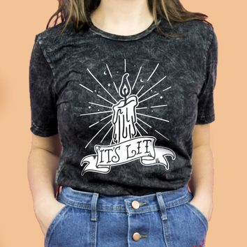 It's Lit Black Flame Candle Shirt