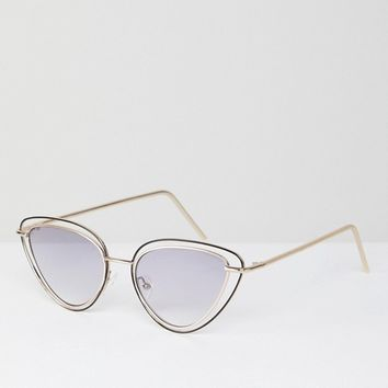 ASOS DESIGN Almond Multi Frame Cat Eye Sunglasses at asos.com