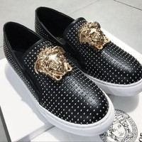 DCCK Versace  Fashion Men Casual Running Sport Shoes Sneakers Slipper Sandals High Heels Shoes