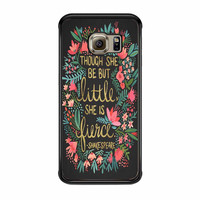 Little And Fierce On Charcoal Samsung Galaxy S6 Edge Case