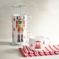 Nutcracker Stackable Coffee Mug Set