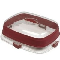 Collapsible Party Carrier ~ Features a Cake Platform That Converts Into an Appetizer Tray
