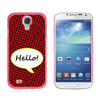 Hello Comic Talk Bubble Galaxy S4 Case