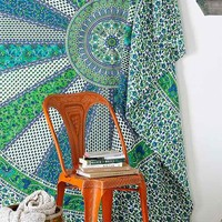 Magical Thinking Bihar Tapestry- Green One