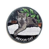 Indoor Cat Iron-On Patch