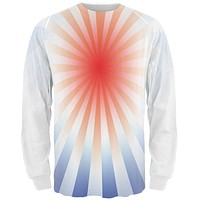 Patriot Red Starburst All Over Adult Long Sleeve T-Shirt