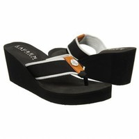 Lauren Ralph Lauren Women's Jane Sandal,Black/White,7 B US