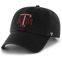 NCAA Texas A&M Aggies '47 Clean Up Adjustable Hat, Black, One Size