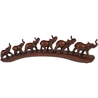 Six Elephant Train Figurine