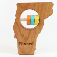 Vermont State Wooden Baby Rattle™