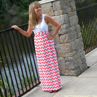 The Maxi-Tank Dress -- Women's Maxi Dress -- Jersey Cotton Knit Dress -- You Chose the Color -- Custom Made