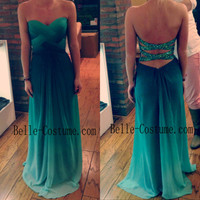 Ombre Prom Dress, Ombre Prom Dresses, Backless Prom Dresses