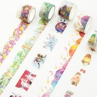 7m DIY Japanese Paper Decorative Adhesive Tape Cartoon Sweet Candy Washi Tape/Masking Tape Stickers Second element Girls