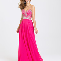 Madison James 16-394 Jeweled Chiffon Prom Dress Evening Gown