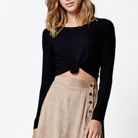 LA Hearts Faux Suede Skater Skirt at PacSun.com
