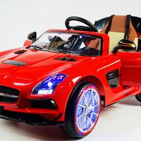 Mercedes SLS 12V Kids Ride-On Car USB MP3 Battery Powered Wheels RC Remote | Red