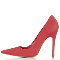 GALLOP Nubuck Leather Court Shoes - Coral