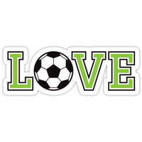'Love soccer sticker and cup' Sticker by Mhea